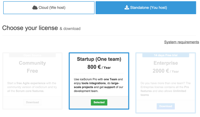 Startup licence